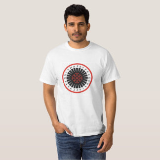 men's T-shirt, white with center emblem T-Shirt