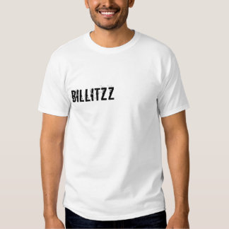 Mens t-shirt with bil's youtube name on the back
