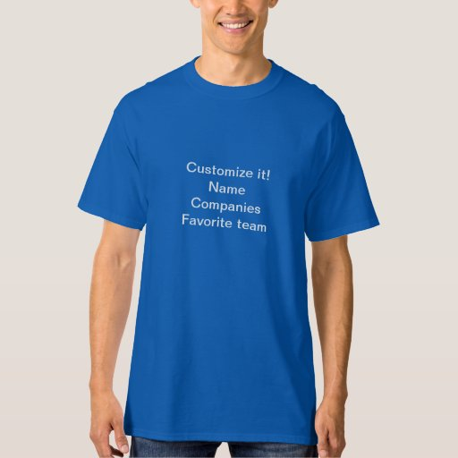 Men's Tall Hanes T-Shirt_ Customize it Tshirts