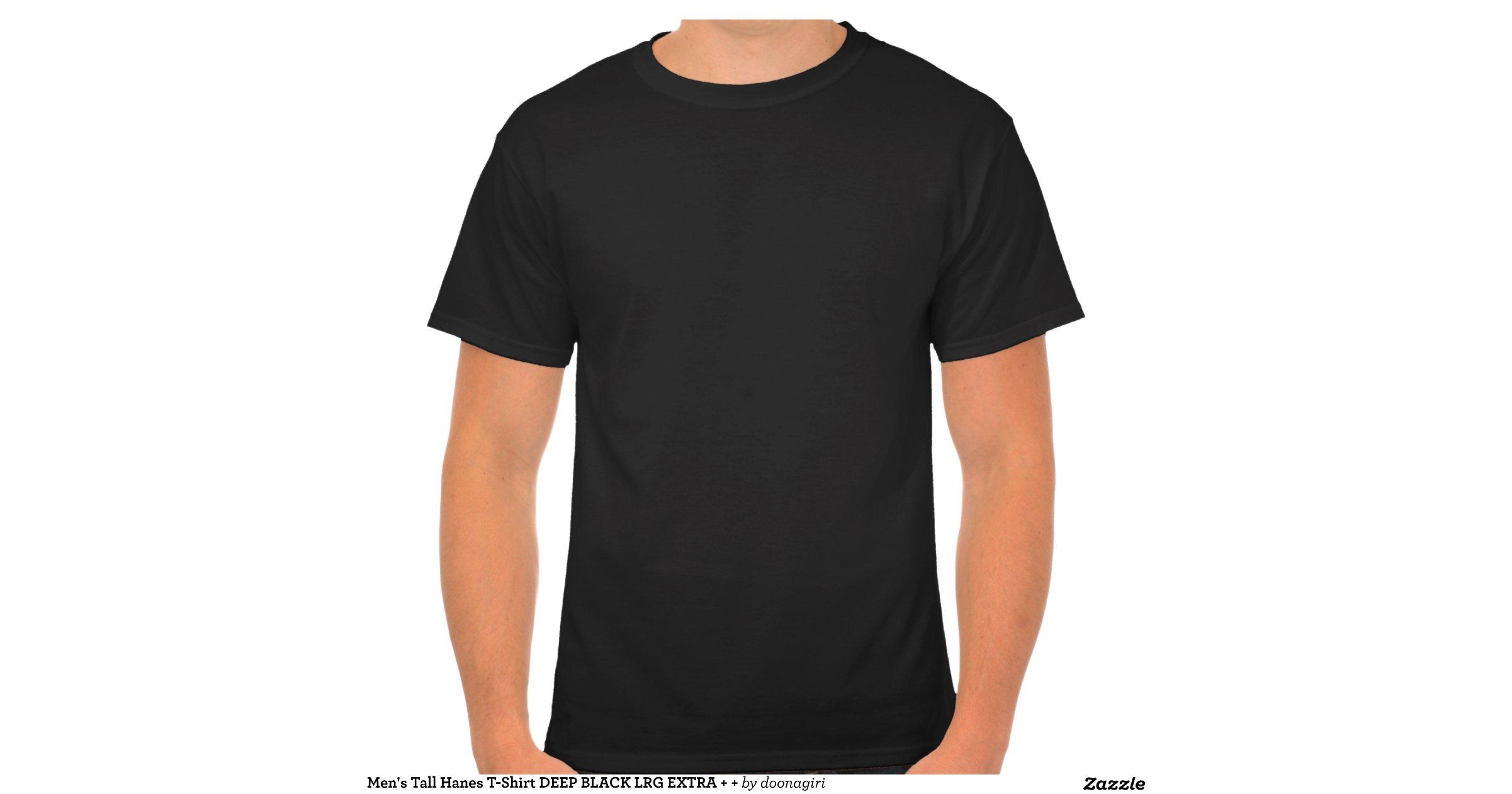 Men 39 S Tall Hanes T Shirt Deep Black Lrg Extra Zazzle
