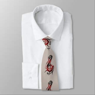 Men's Tan Music Note Tie