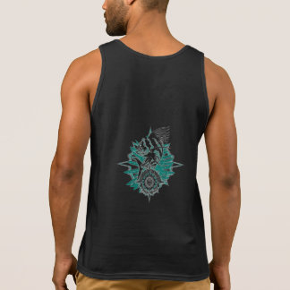 Men's Tank top with Wicked Waters Rooster fish