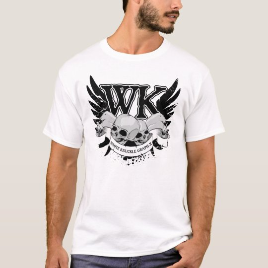 Men's Tattoo Art on White T-Shirt