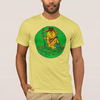 Men's Tee shirt - dog gone fishing