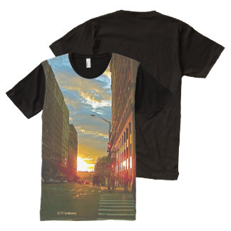 Men's tee with image of NYC