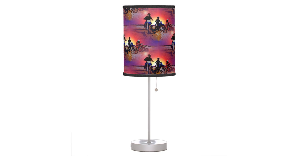 Table Lamps For Teen Boys : Men s teen boy motocross motorbike riding table lamp