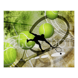 men's tennis player poster