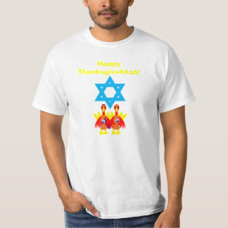 Men's Thanksgivukkah Funny Toasting Turkeys Tshirt