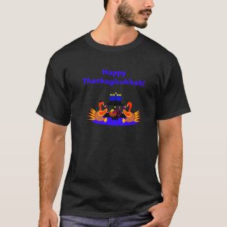 Men's Thanksgivukkah Funny Turkey Tshirt
