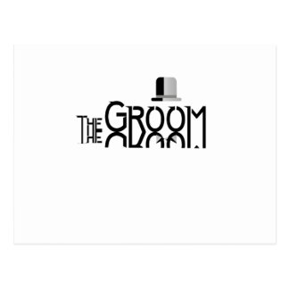 Mens The Groom Married Funny Gift Postcard