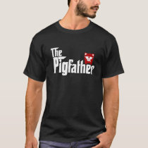 Mens The Pigfather Pig Father's Day for Daddy Men  T-Shirt