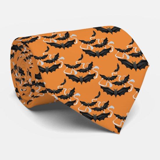 Men's Tie-Halloween Bats Neck Tie