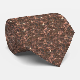 Mens Tie with Copper Penny Pattern