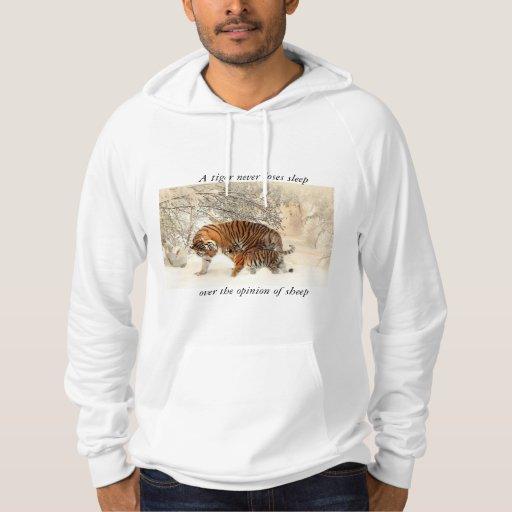 Mens tiger hooded jumper hooded sweatshirt