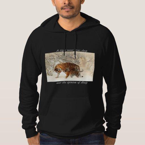 Mens tiger hooded jumper hoody
