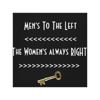 Men's To The Left Canvas Print
