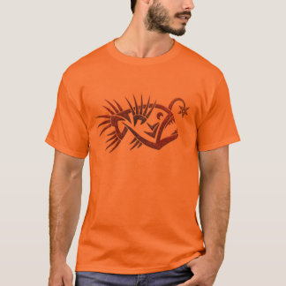 Mens tribal anglerfish shirt design