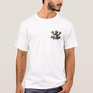 mens tribal frog island hopper shirt design