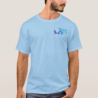 Mens tribal hammerhead shark shirt