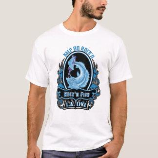 mens_tshirt_charcoal_biker_blue T-Shirt