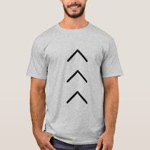 "Mens Tshirt with big ""lucky few"" arrows"