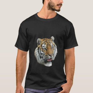 Men's Tshirt with Wild Tiger Head