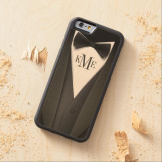 Mens Tuxedo Suit Monogram Carved® Maple iPhone 6 Bumper