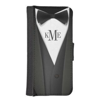 Mens Tuxedo Suit Monogram iPhone SE/5/5s Wallet
