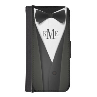 Mens Tuxedo Suit Monogram iPhone 5 Wallet