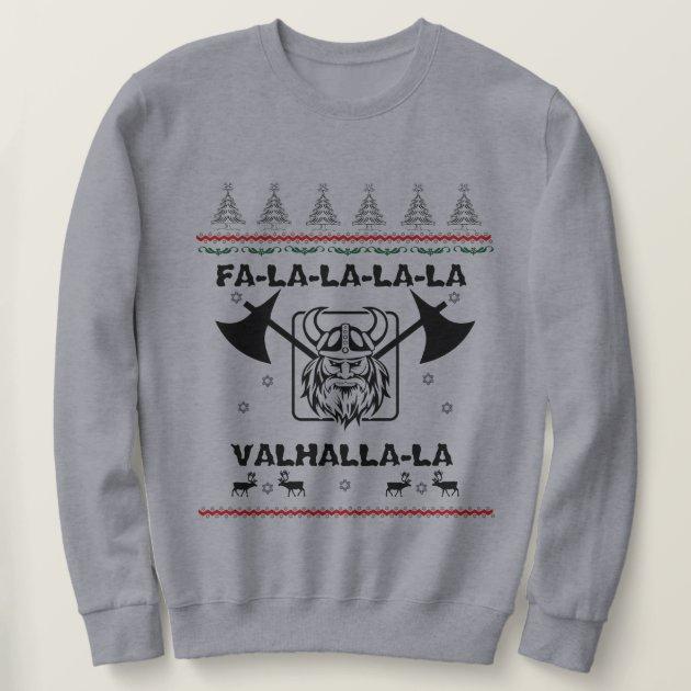 Men's Ugly Sweater - Fa-la-la-la-la Valhalla-la | Zazzle.com