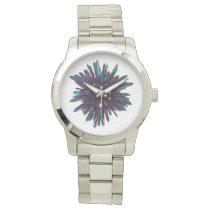 *~* Men's Unisex Metallic Blue Purple Crystal Watch