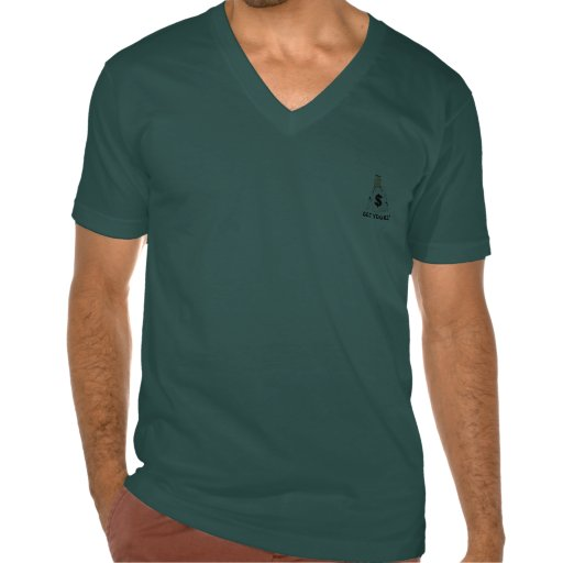 MEN'S  V-NECK-T SHIRT