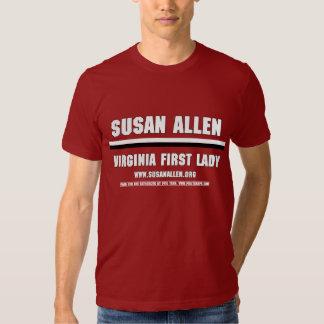 Men's VA First Lady Susan Allen Shirt (Garnet)