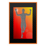 """Mens Victory Runner Poster 24""""x36"""""""