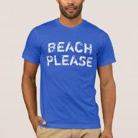 Men's Vintage Beach Please on Royal Blue T-Shirt