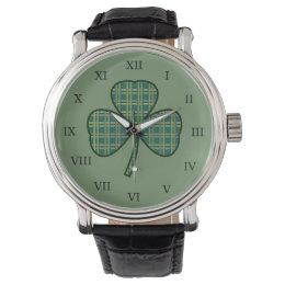Men's Vintage Irish Shamrock Watch