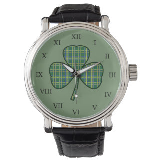 Men's Vintage Irish Shamrock Watch