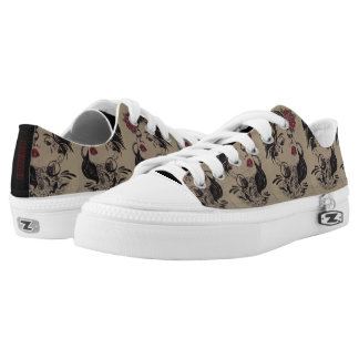Mens Vintage Neo Girl Pin Up low top shoe