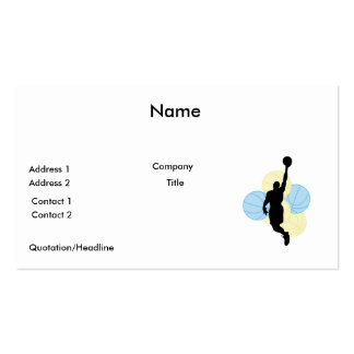 mens volleyball silhouette design Double-Sided standard business cards (Pack of 100)