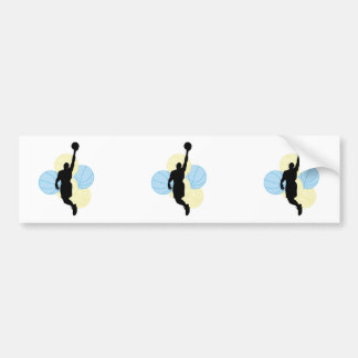 mens volleyball silhouette design car bumper sticker
