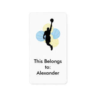 mens volleyball silhouette design label