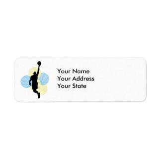 mens volleyball silhouette design return address label