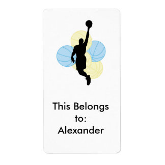 mens volleyball silhouette design shipping label