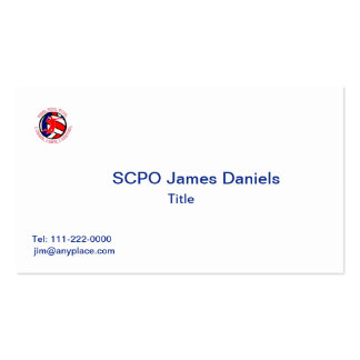 MEN'S VOLLEYBALL VVV SHIELD Double-Sided STANDARD BUSINESS CARDS (Pack OF 100)