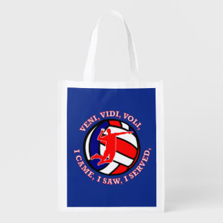 MEN'S VOLLEYBALL VVV SHIELD GROCERY BAG