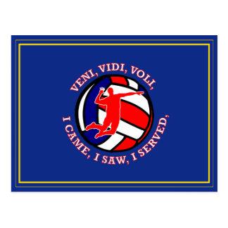 MEN'S VOLLEYBALL VVV SHIELD POSTCARD