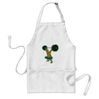 Men's weight lifting, fitness, t-shirts adult apron