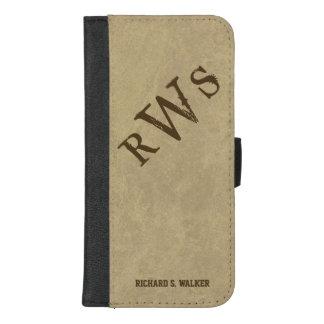Mens Western Rustic Monogram iPhone 8/7 Plus Wallet Case