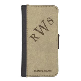 Mens Western Rustic Monogram iPhone SE/5/5s Wallet