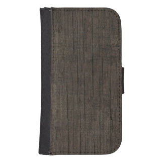 Mens Western Rustic Wood Galaxy S4 Wallet Case